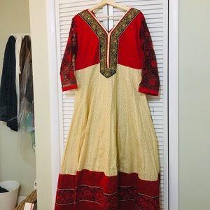 ‼️💐Indian longGown dress size 46 Indian Xtra lg